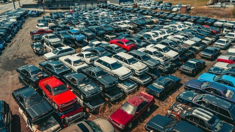 Кладбище Nissan Skyline в Японии — это огромный склад запчастей для энтузиаста