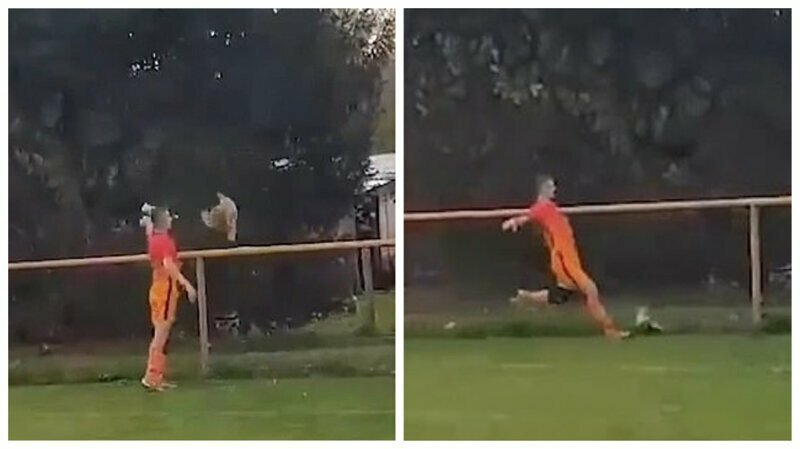 Футболист получил красную карточку за убийство курицы