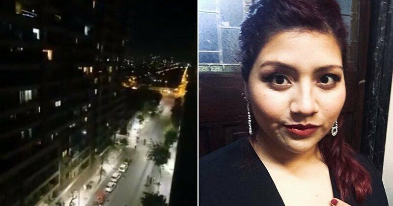 Оперная певица бросила вызов комендантскому часу в Сантьяго, исполнив песню из окна спальни