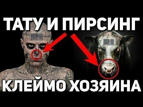 Зачем хозяева метят людей татуировками и пирсингом?