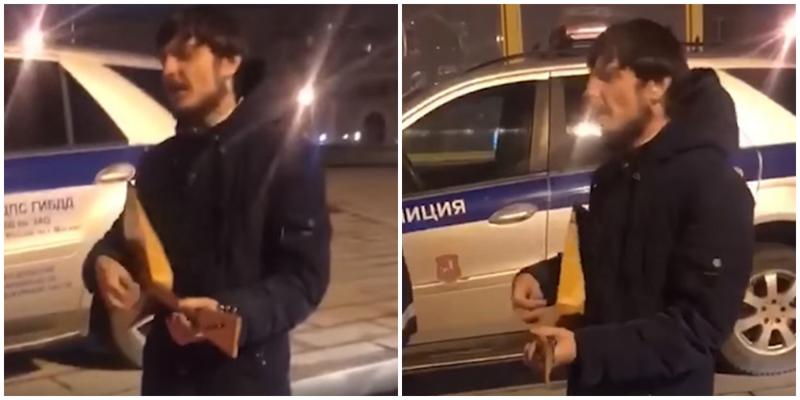 В Москве пьяный водитель с балалайкой пел сотрудникам ДПС частушки, пока те его оформляли