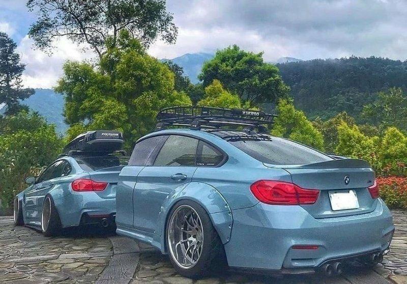 На Тайване сфотографировали уникальный прицеп для тюнингованного BMW