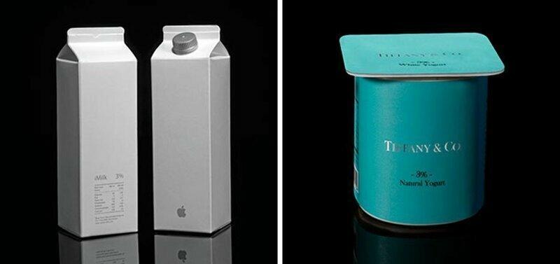 Как могла бы выглядеть упаковка обычных продуктов, если бы ее делали известные бренды
