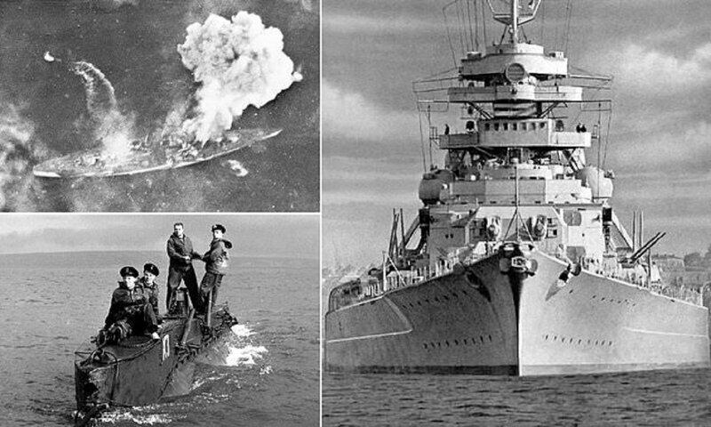 """75 лет назад англичане победили """"гитлеровское морское чудовище"""""""