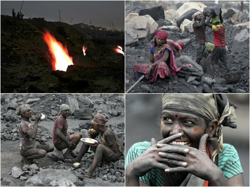 Индийские угольные шахты спустя столетие все еще горят