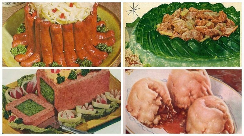 Кулинарный трэш 50-х: для любителей поэкспериментировать на кухне