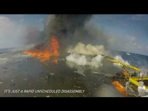 Илон Маск выложил видео с падением своих ракет!