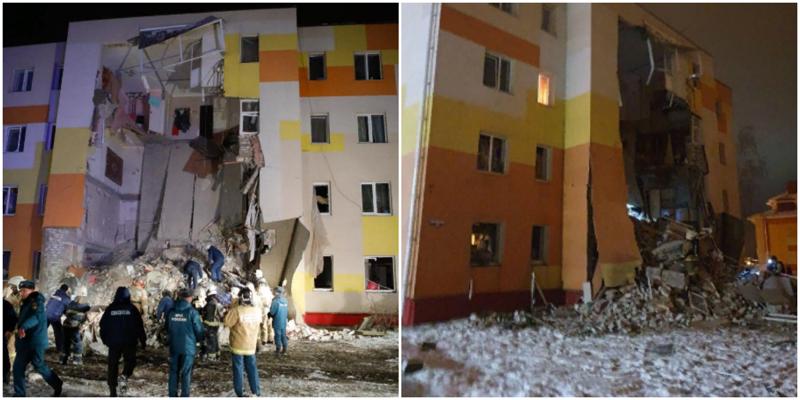Обрушение жилого дома под Белгородом попало на видео