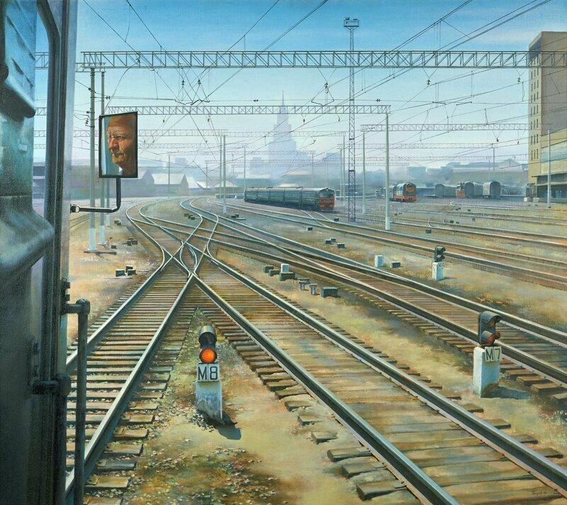 Поезда в картинах СССР