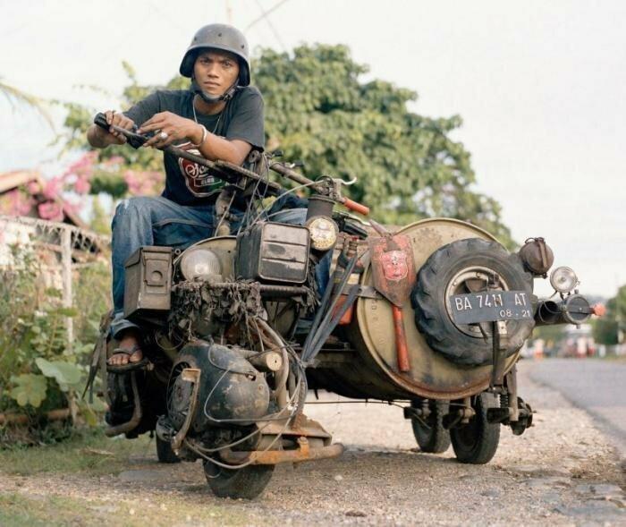 Безумные модификации скутеров Vespa из Индонезии