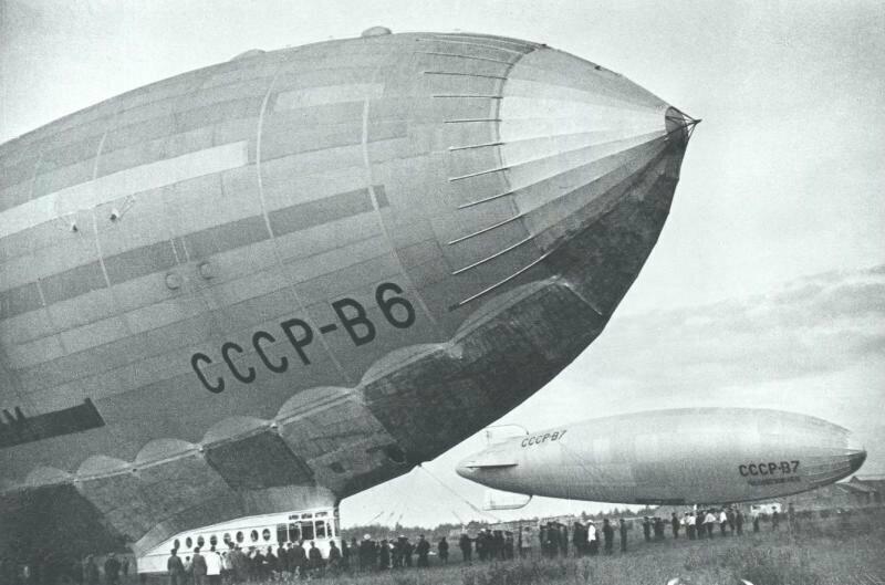 Крупнейший в Советском Союзе: полужесткий дирижабль В-6