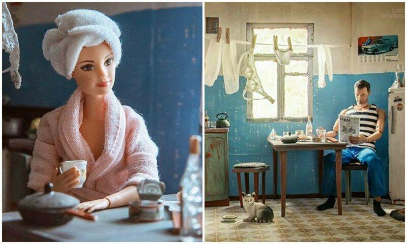 Как выглядела бы жизнь Барби и Кена в советской коммуналке