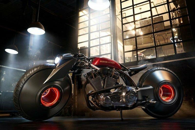 Необычный Harley-Davidson, построенный для мото-шоу в Джакарте