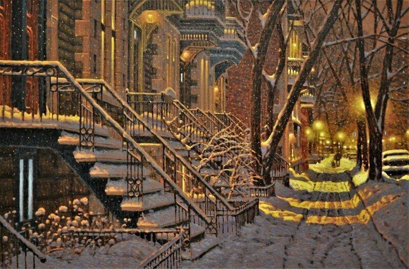 Канадский художник пишет удивительные зимние пейзажи