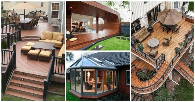 30 идей для тех, кто надумал пристроить террасу или веранду