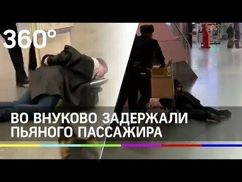 Полиция прокатила пьяного дебошира на тележке во «Внуково»