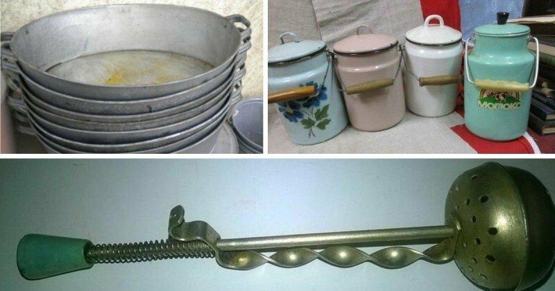 10+ видов забытой посуды советских времен