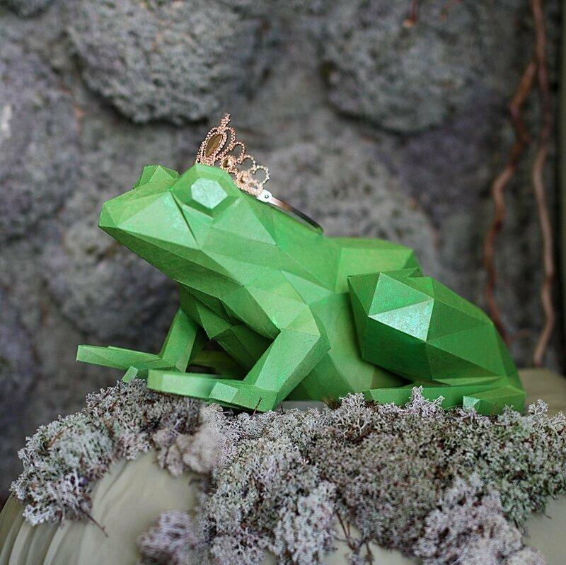 Царевна лягушка, фигурка лягушки + бесплатный шаблон