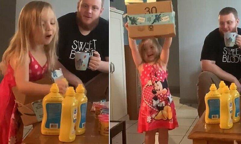 Четырехлетней малышке подарили на Рождество горчицу - и она счастлива!