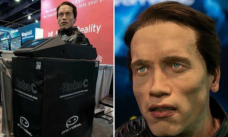 Он вернулся: говорящий робот с внешностью Шварценеггера произвел фурор на СES-2020