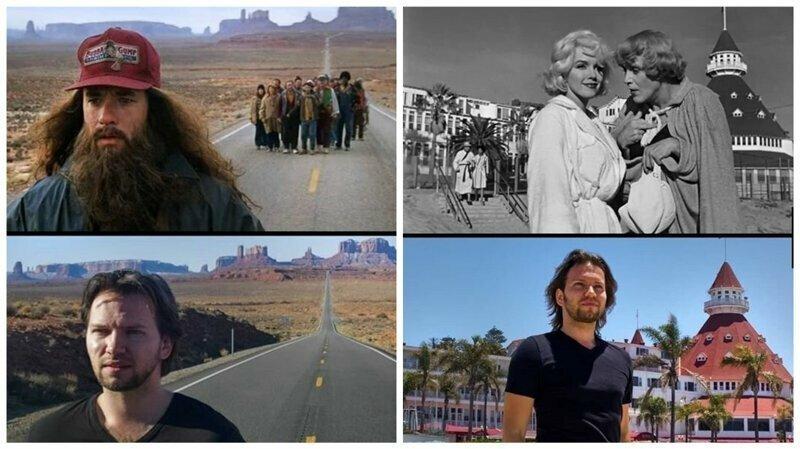 Киноман ищет локации и воссоздает сцены из известных фильмов