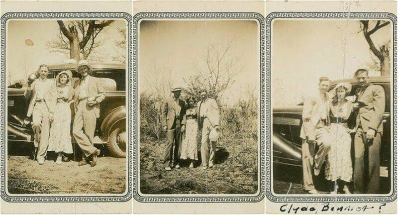 Фотографии Бонни, Клайда и других участников их банды (1934 г.)