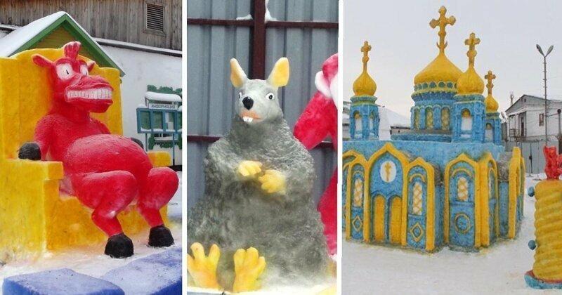 В Кузбассе построили более красочную версию Храма Христа Спасителя
