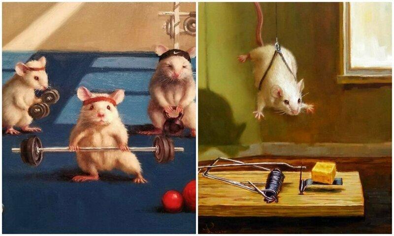 """Художница рисует повседневную жизнь мышек в """"человеческих"""" ситуациях"""