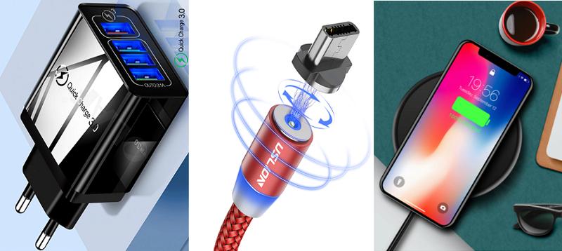 Самые продаваемые кабели, адаптеры и зарядки на Aliexpress