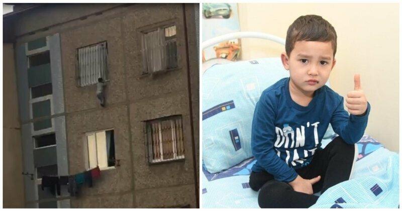 Жители Ташкента спасли выпавшего из окна пятого этажа ребенка