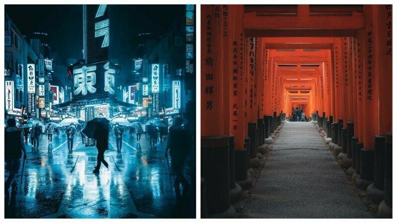 Ночь и день: потрясающие городские пейзажи из Японии