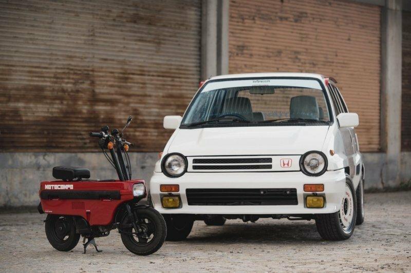 Honda City Turbo II со скутером Motocompo – Японский ответ вызовам большого города