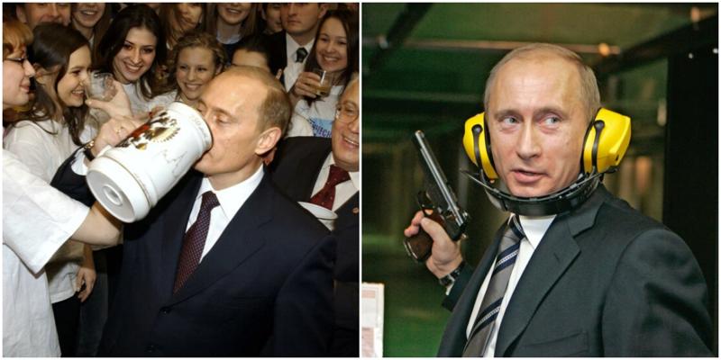 В сети появились новые архивные фотографии Владимира Путина