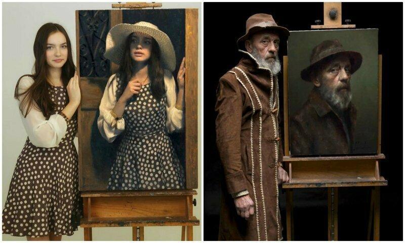 Польский художник показал моделей со своих портретов - сходство поражает