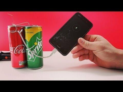 Как Зарядить Телефон с помощью Кока Колы и Лимона