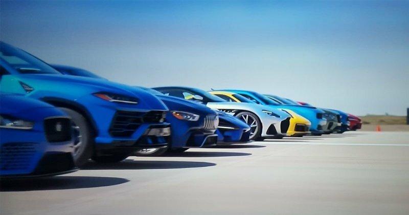 World's Greatest Drag Race — 12 современных спорткаров сразились на взлетной полосе аэродрома