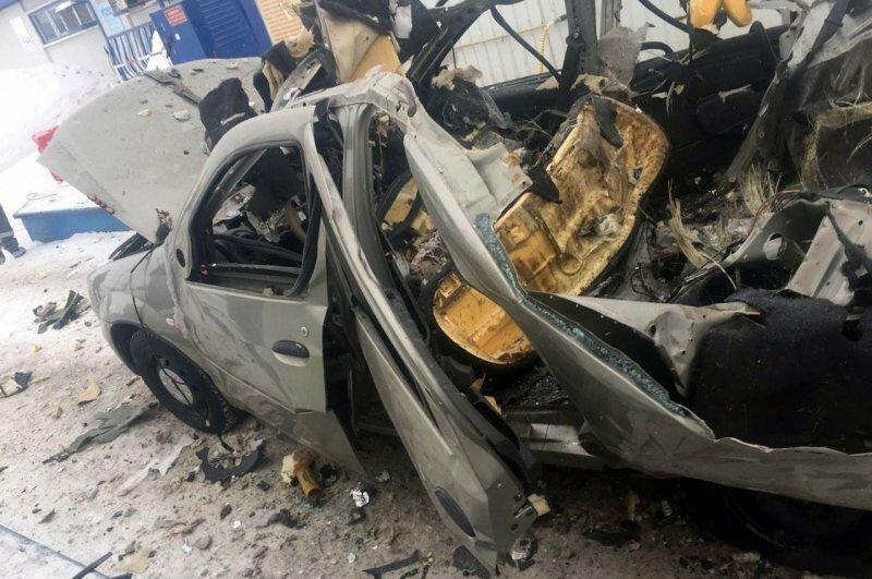 Машину разворотило в клочья: взрыв газового баллона на АЗС в Башкирии