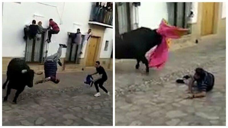 Не сумел убежать: разъяренный бык затоптал мужчину на фестивале в Испании