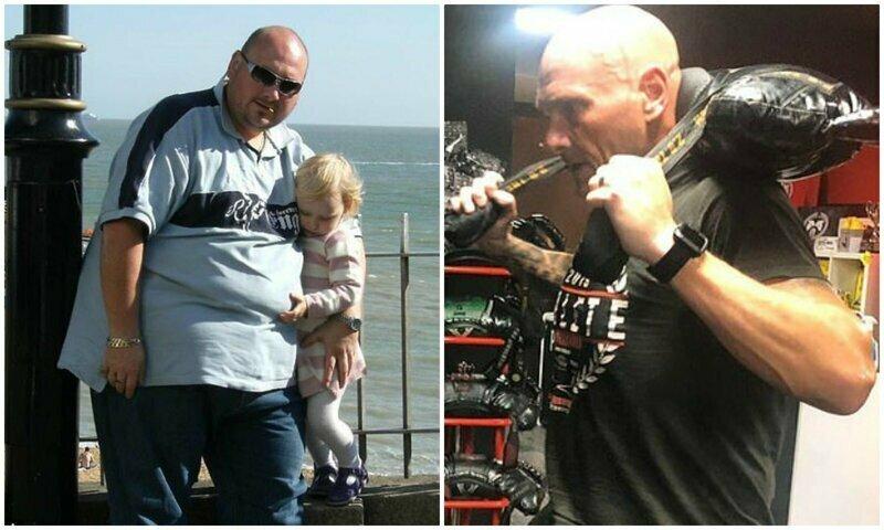 Мужчина сбросил 127 кг ради дочери, и превратился в другого человека