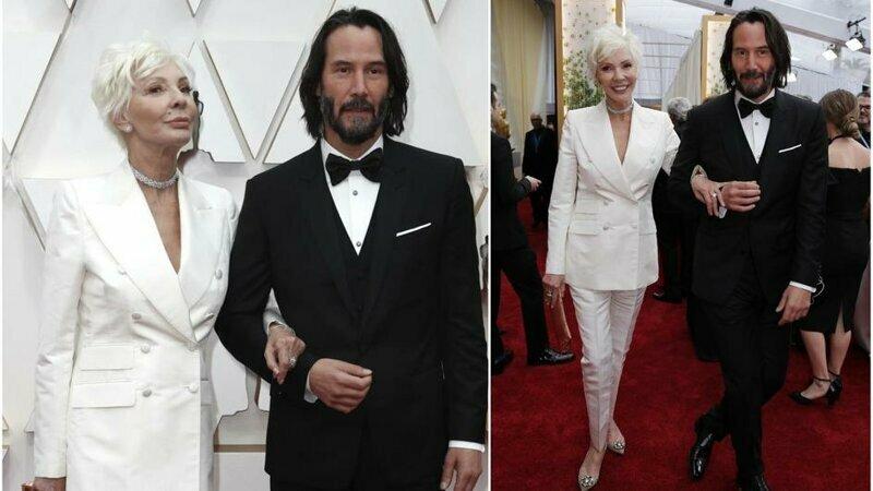 Киану Ривз пришёл на «Оскар» с мамой