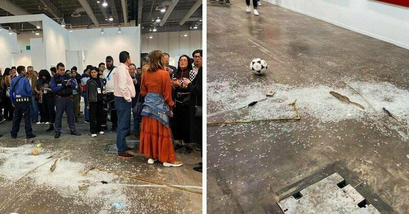 На современной выставке женщина разбила экспонат стоимостью $20 000