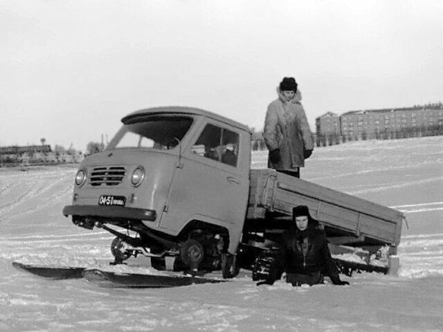 Для северных краев. Опытный снегоход УАЗ-451С