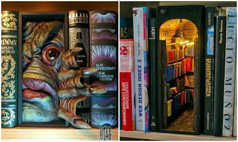 Новый тренд - вкладки для книжных полок, которые открывают завесу фантастических миров