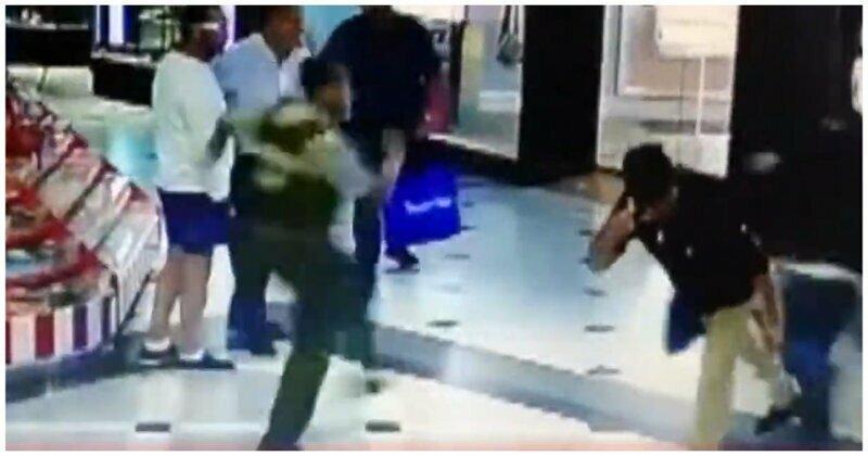 Посетитель торгового центра ловко помог полиции задержать вора