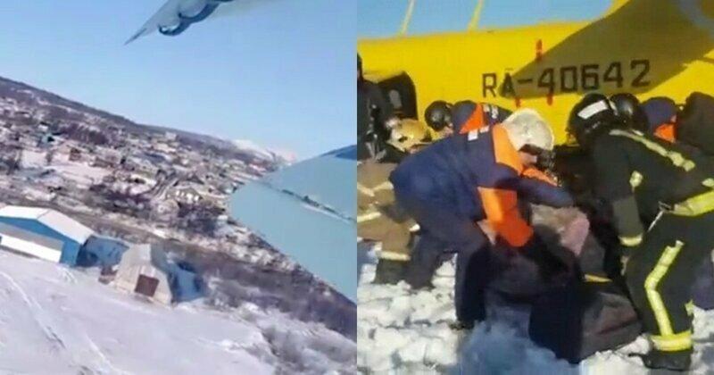 В Сети появилось видео жесткой посадки Ан-2 в Магадане