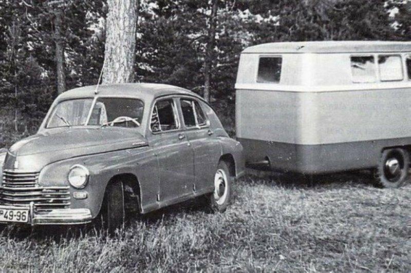 Автомобильный туризм в СССР: прицепы-дачи прошлого века