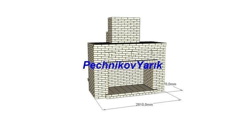 Уличная лежанка с камин-мангалом в хозяйстве Белые Пашни