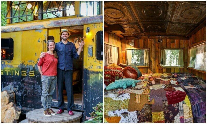 Вагон поезда времен Второй мировой войны переделали в колоритное жилье