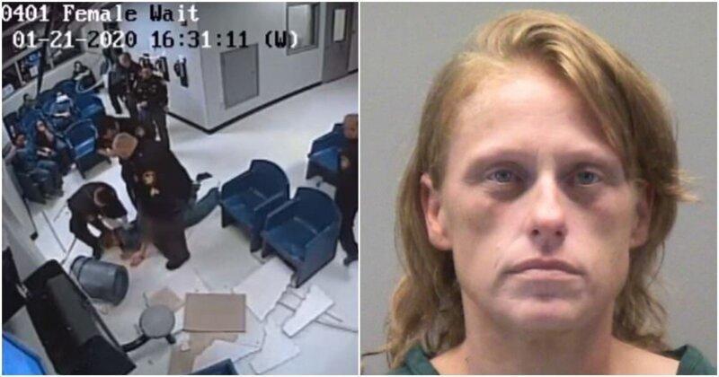 В США преступница упала с потолка, пытаясь сбежать из тюрьмы