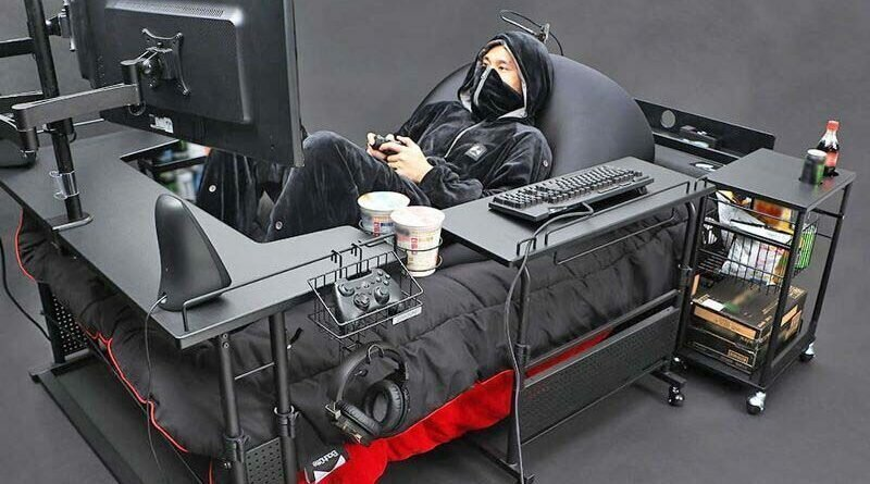 В Японии создали кровать для геймеров
